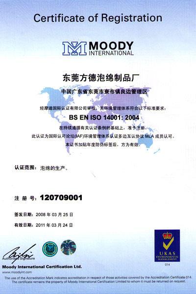 ISO14001:2004 Environment